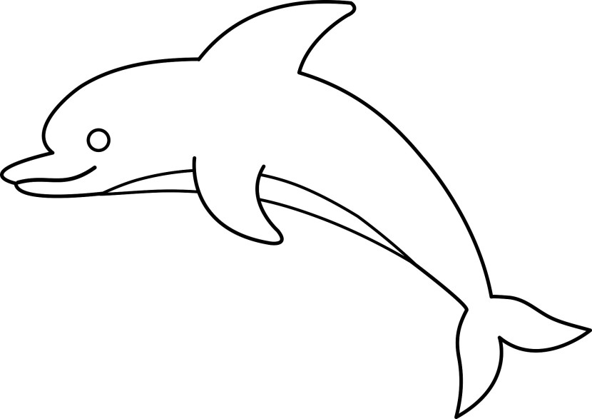 Dolphin outline cliparts
