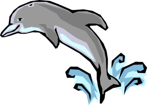 Dolphins jumping clipart