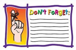 Donu0026#39;t Forget list