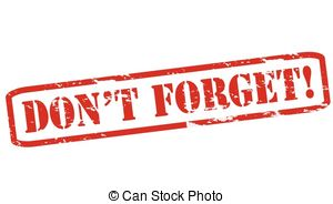 ... Don t forget - Rubber stamps with text don t forget inside,.