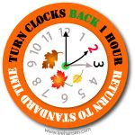 Donu0027t forget to change your clocks - fall back for end of daylight savings  time in the Northern Hemisphere