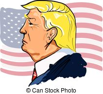 . ClipartLook.com Web Vector color illustrated portrait of president Donald.