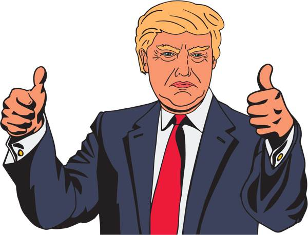 Donald Trump Vector Clipart by .