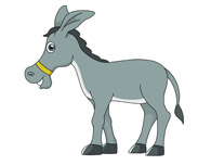 donkey cartoon style clipart. Size: 39 Kb