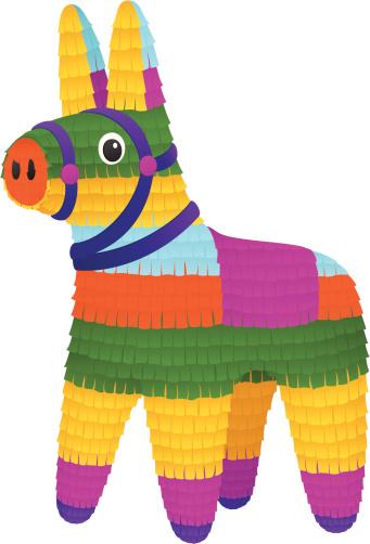 Donkey Piñata vector art .