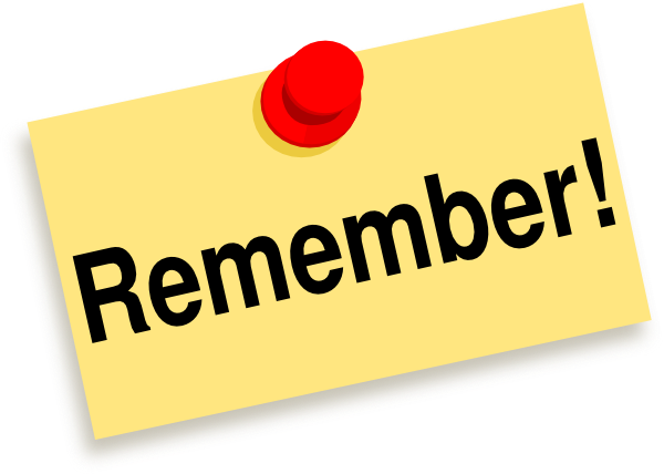 Dont Forget Clip Art