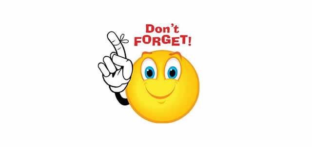 Dont Forget Smiley Clipart #1