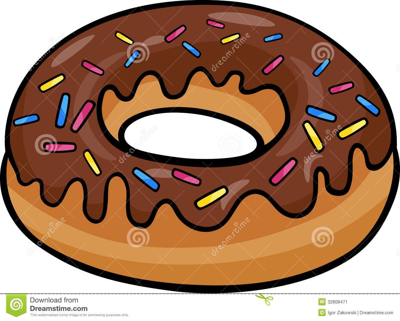 Donut Clip Art Cartoon Illustration Stoc-Donut Clip Art Cartoon Illustration Stock Image Image 32808471-4