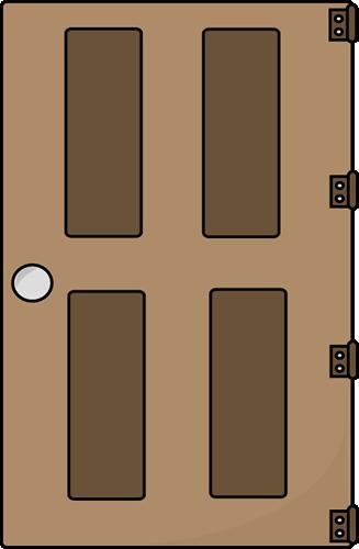 Door Clip Art Image - brown door on hinges. Great for the letter D sound