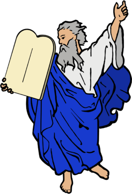 Dore Illustrated Moses Clip Art