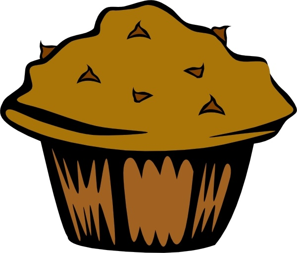 Double Chocolate Muffin clip art