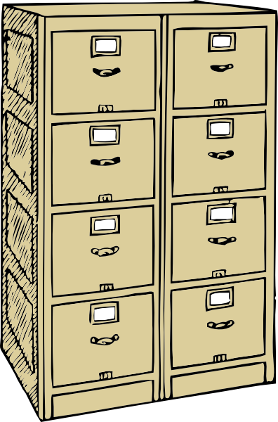 Double Drawer File Cabinet Clip Art At Clker Com Vector Clip Art