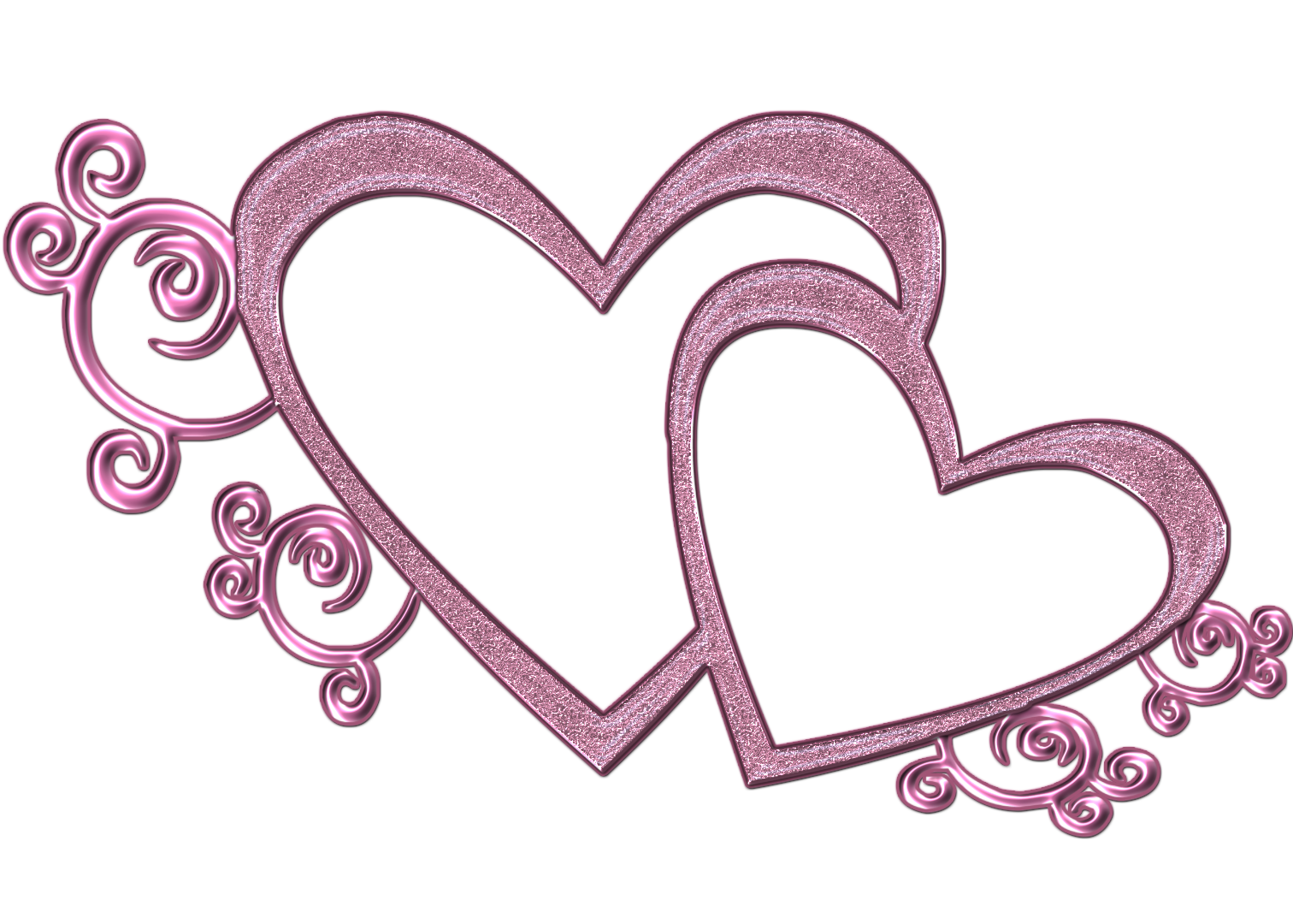 Double Free Wedding Heart Clipart Pink D-Double Free Wedding Heart Clipart Pink Double Heart-3