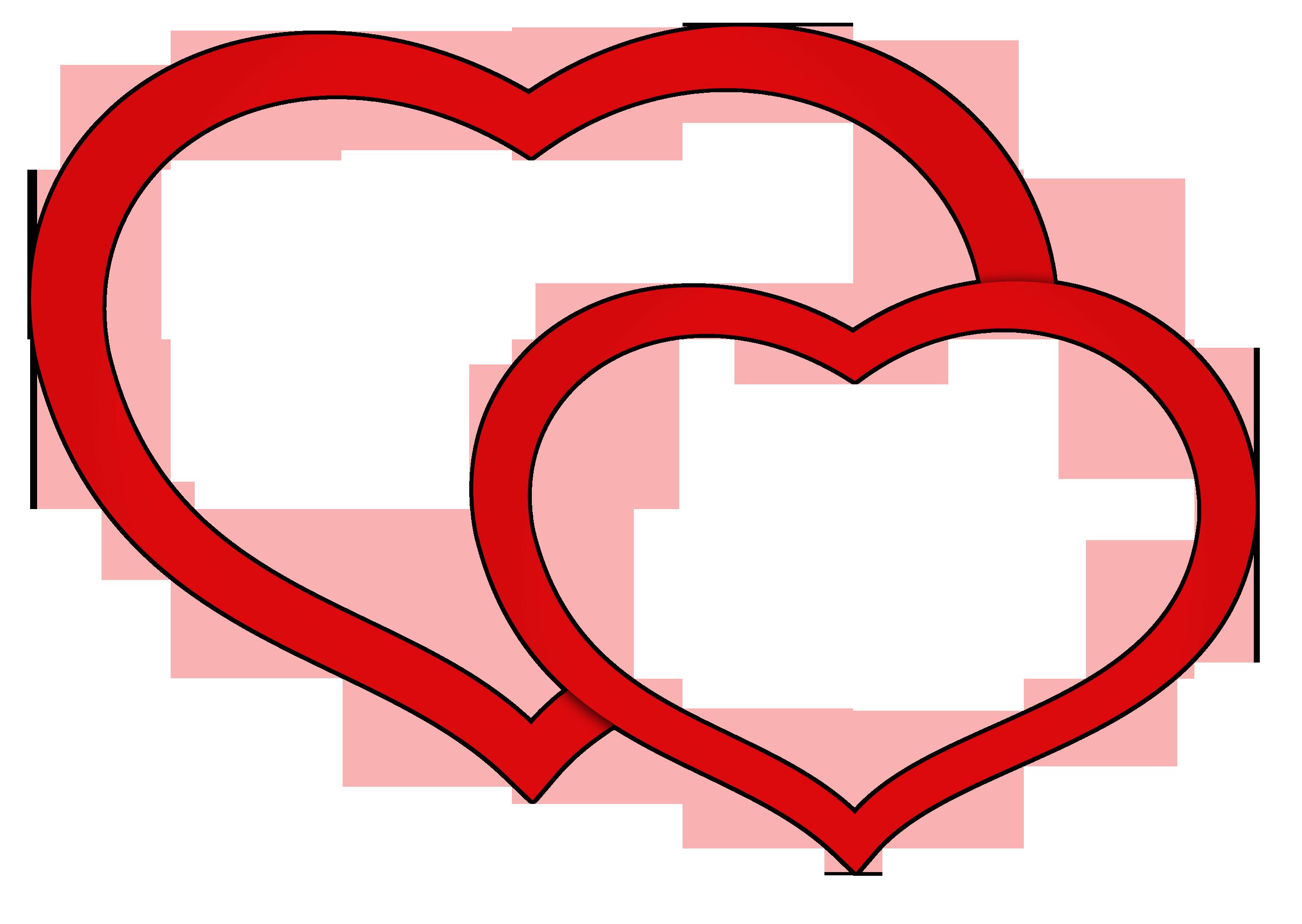 Double Heart Clip Art-Double Heart Clip Art-6