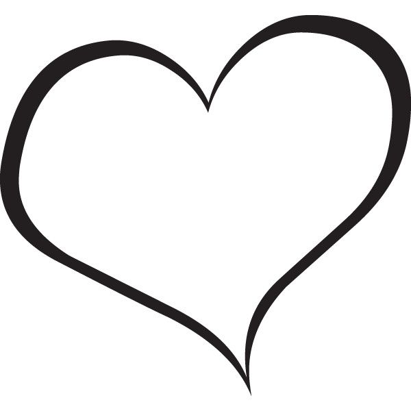 Double Heart Clipart Black And ..