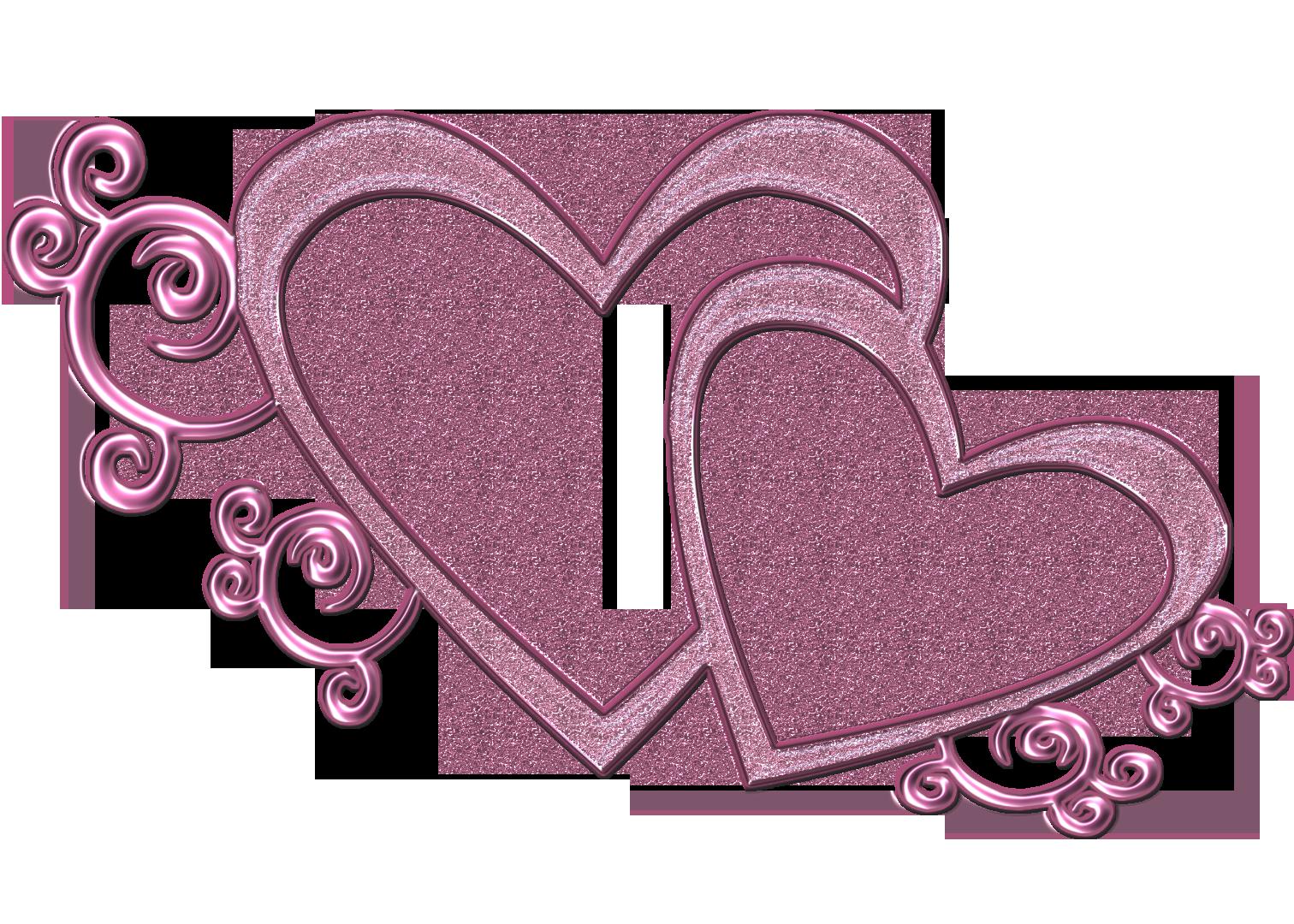 Double Hearts Clip Art .-Double Hearts Clip Art .-13