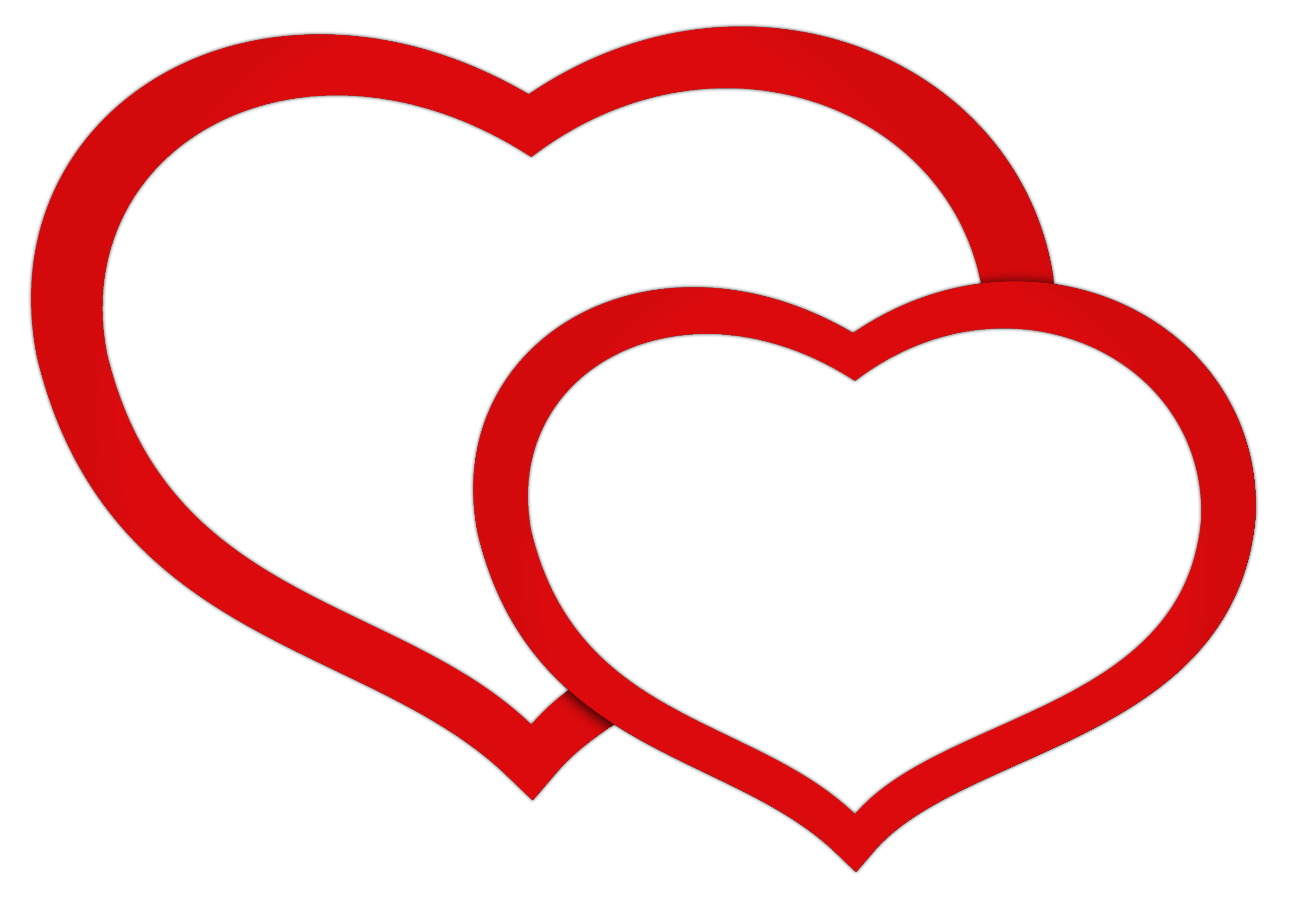 Double Hearts Clipart