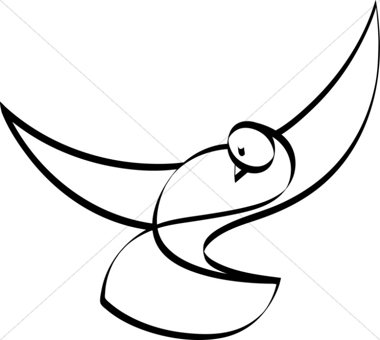 Dove Black and White Christian Clipart-Dove Black and White Christian Clipart-12