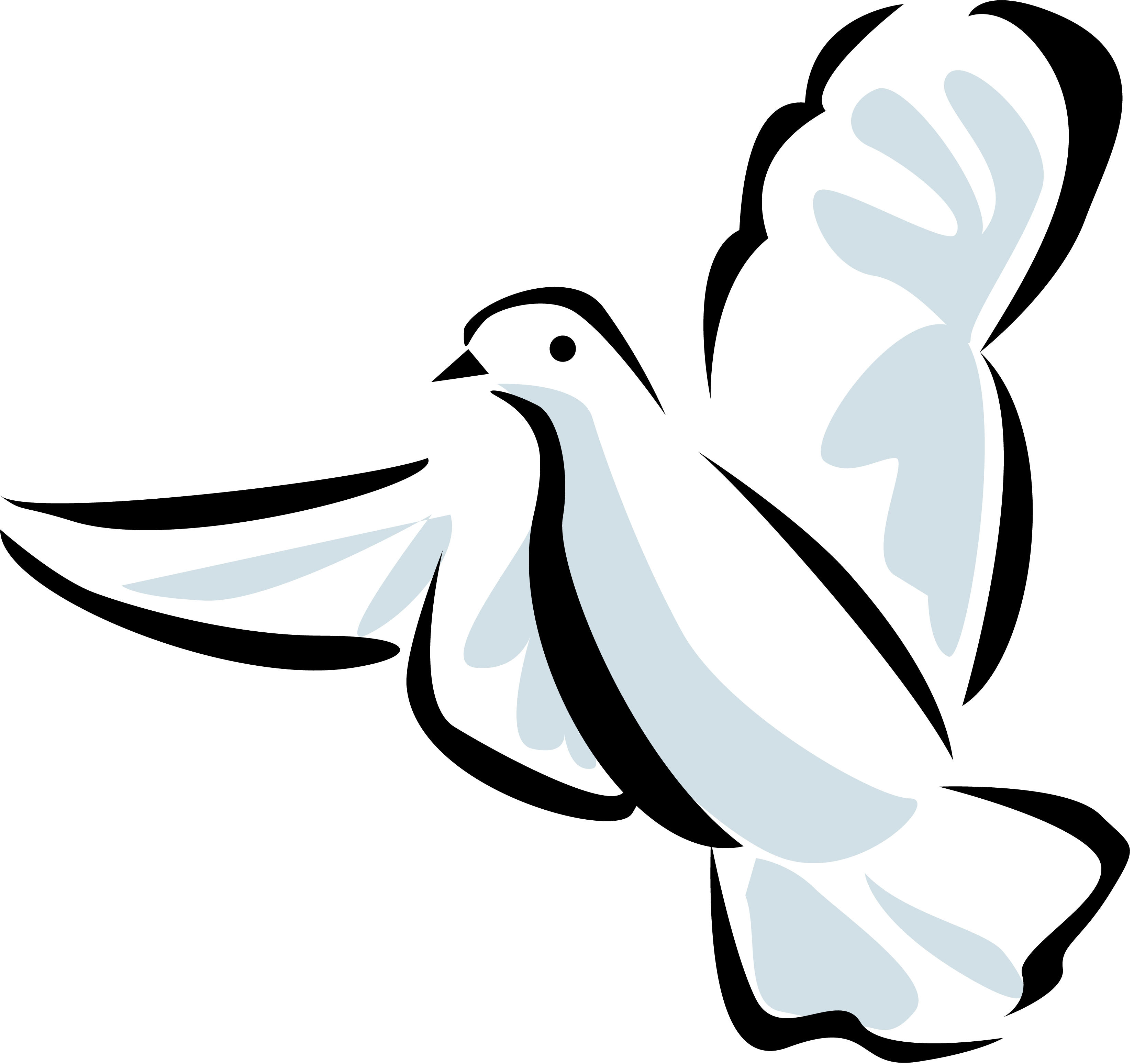 Dove Line Drawing Clipart-Dove line drawing clipart-11