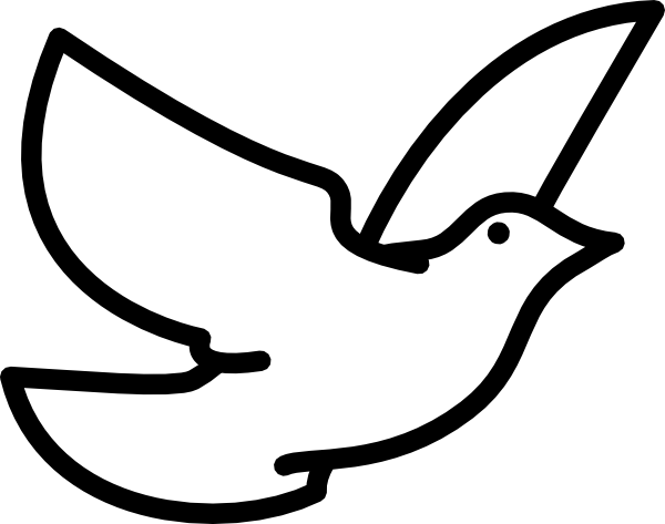 Dove Outline clip art - Bird .