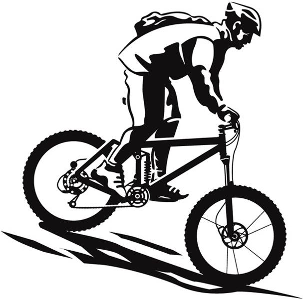 Downhill Mountain Bike Clip Art