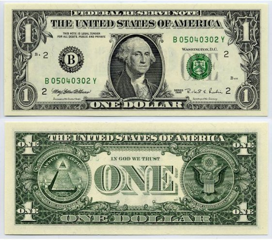 Download 1 Dollar Bill Clipart