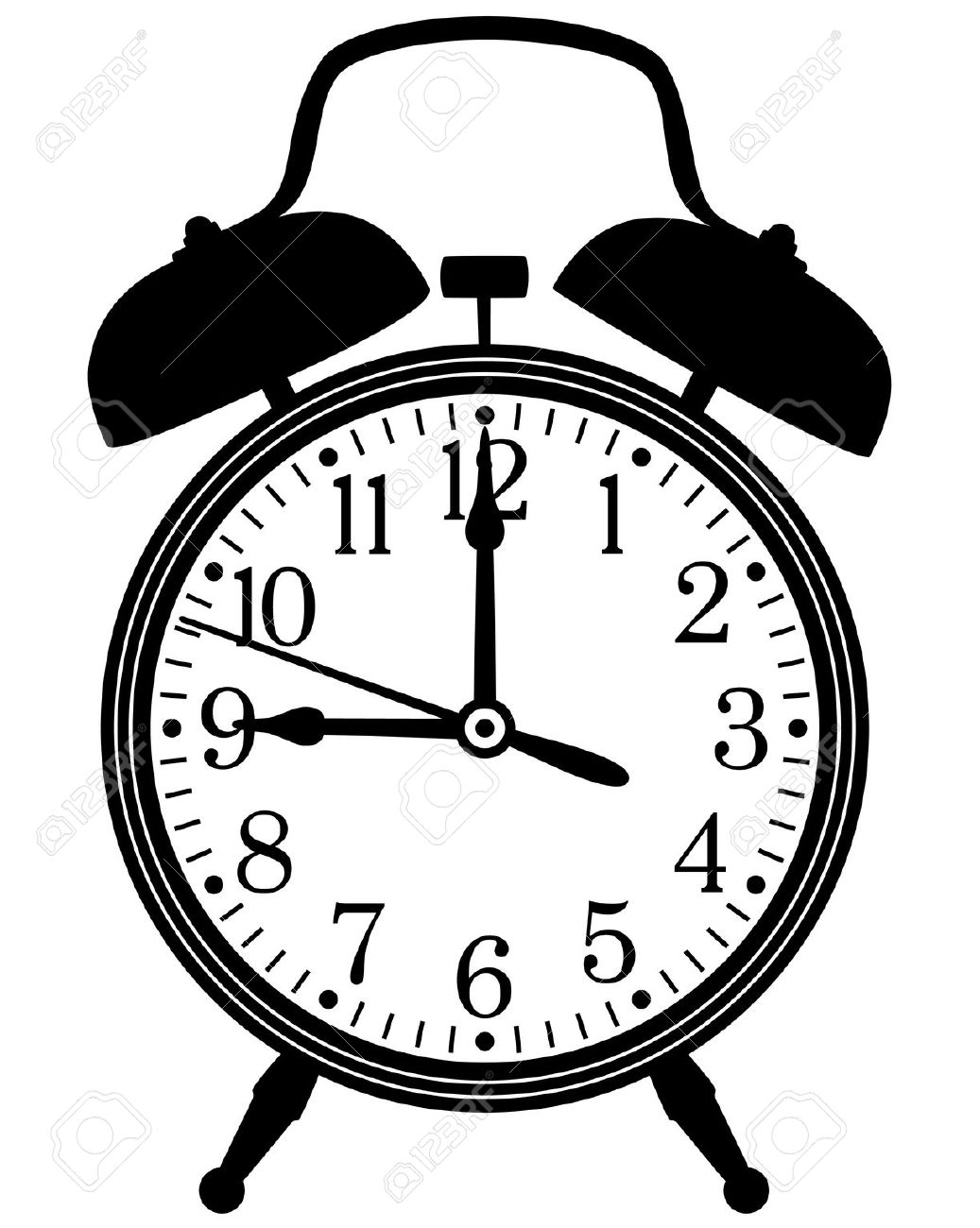Download Clip Art Black And White Retro Clock Clipart