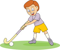 Download Field Hockey Clipart. ice hockey player wearing gear .