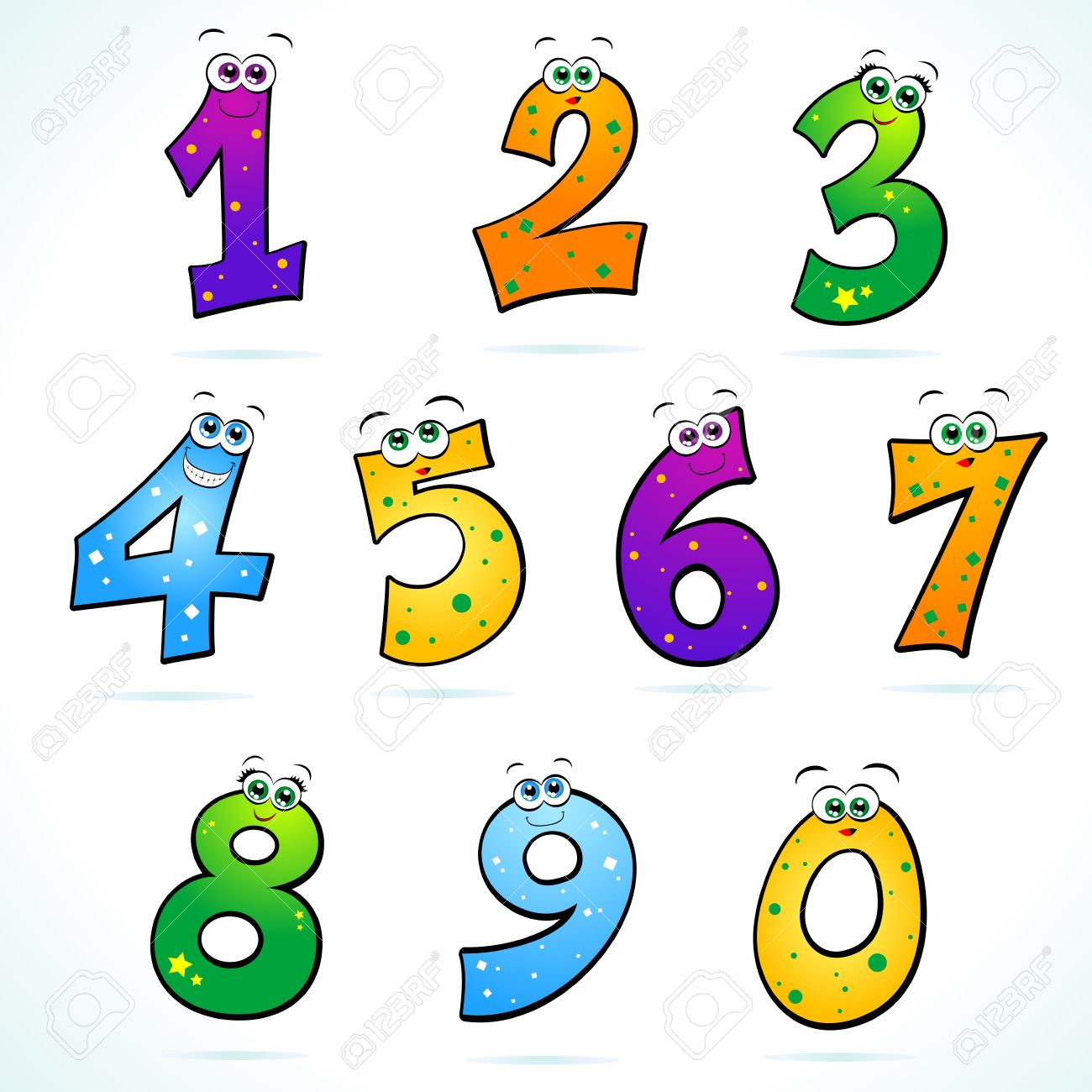 Download Funny Numbers Clipart