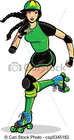 Download Roller Derby Girl Clipart