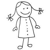 Download Stick Girl Clipart. Clip Art of a Cute Figure .