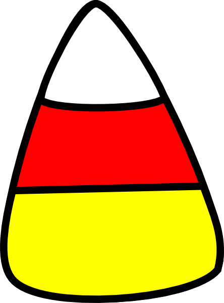 Download this image as: - Candy Corn Clip Art