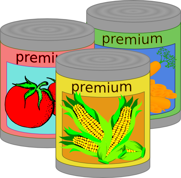 Download this image as: - Canned Goods Clip Art