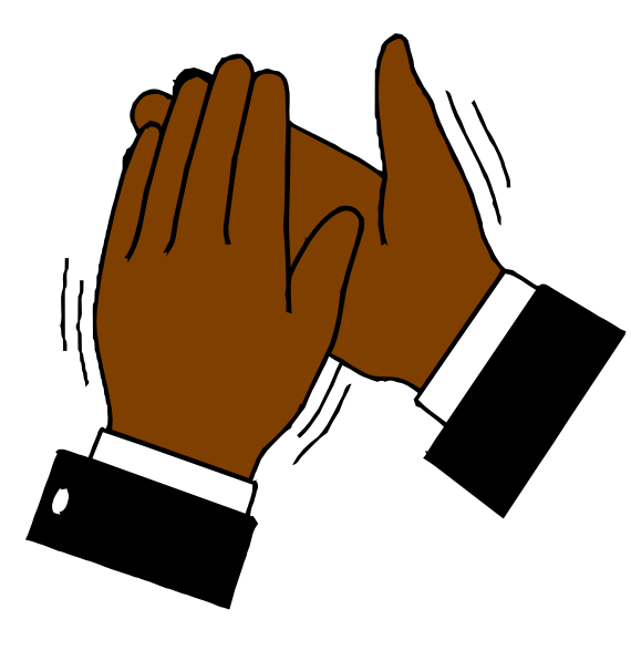 Download this image as: - Clapping Hands Clipart
