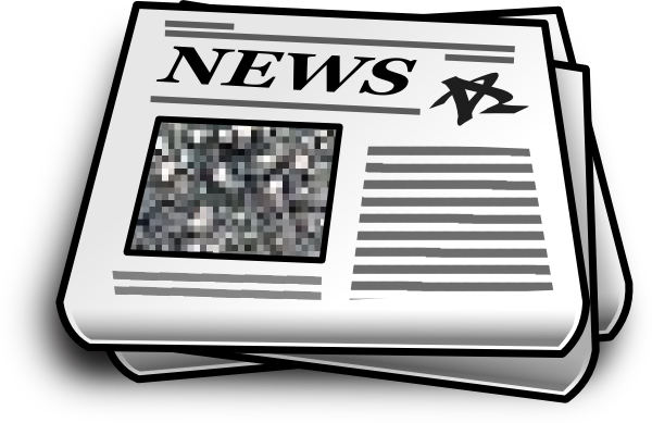 Download this image as: - Clip Art Newspaper
