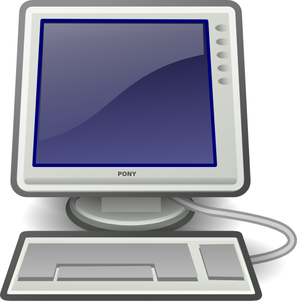 Download this image as: - Clipart Of A Computer