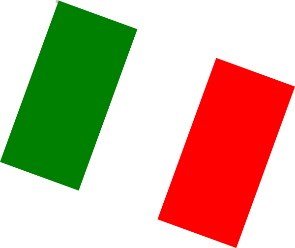 Download this image as: - Italian Flag Clip Art