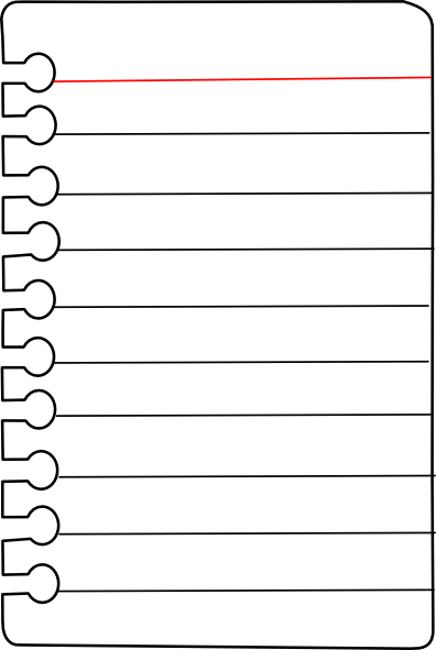Download this image as: - Notebook Paper Clip Art