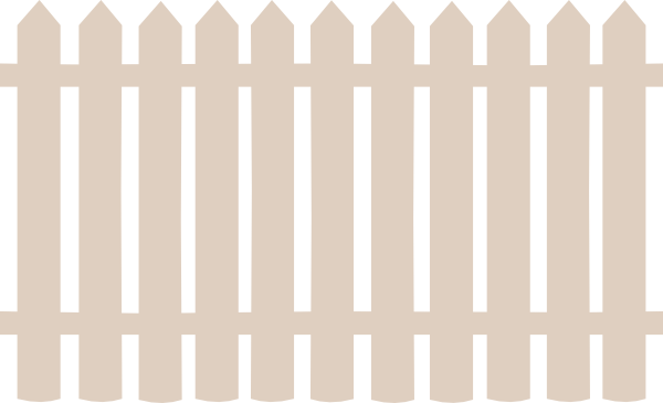 Download this image as: - Picket Fence Clipart