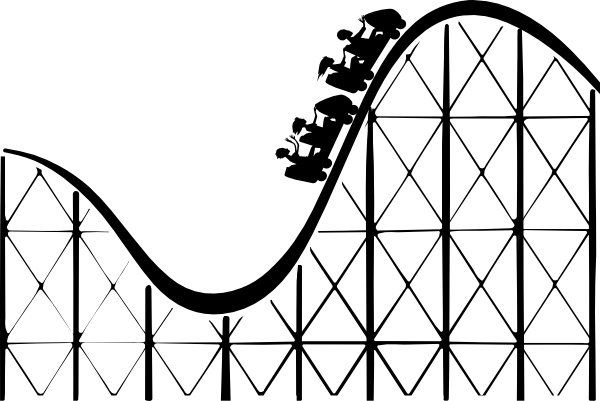 Download this image as: - Roller Coaster Clipart
