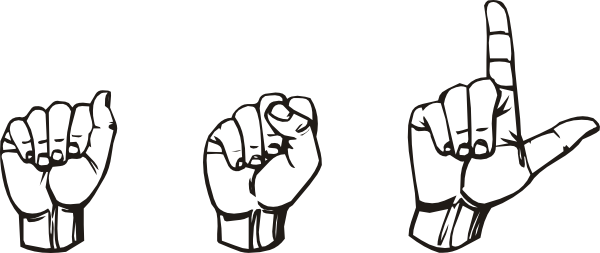 Download this image as: - Sign Language Clipart