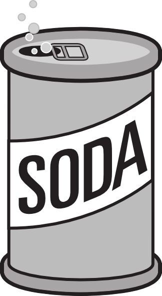 Download this image as: - Soda Can Clipart