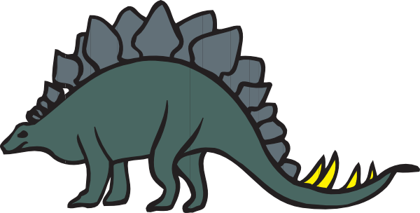 Download this image as: - Stegosaurus Clip Art