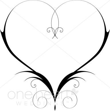 Download Wedding Program Hearts Clipart