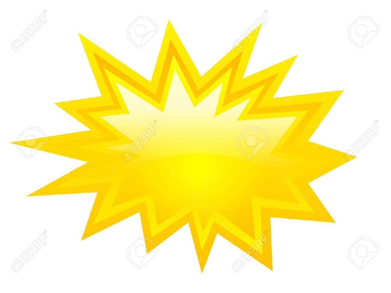 Download Yellow Burst Clipart