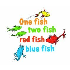 Dr Seuss Clip Art Dr Seuss One Fish Two Fish Vinyl Wall Art Decals
