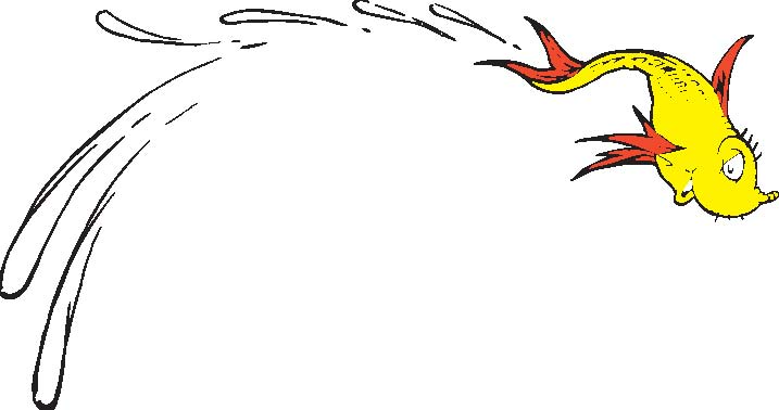 Dr Seuss Coloring Pages One Fish Two Fish One Fish Two Fish Red Fish