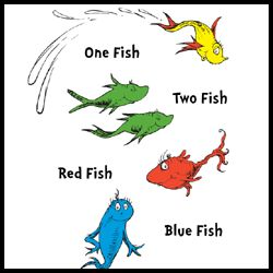 Dr Seuss One Fish Two Fish. Dr. Seuss Printables | Mrs. Ps ..