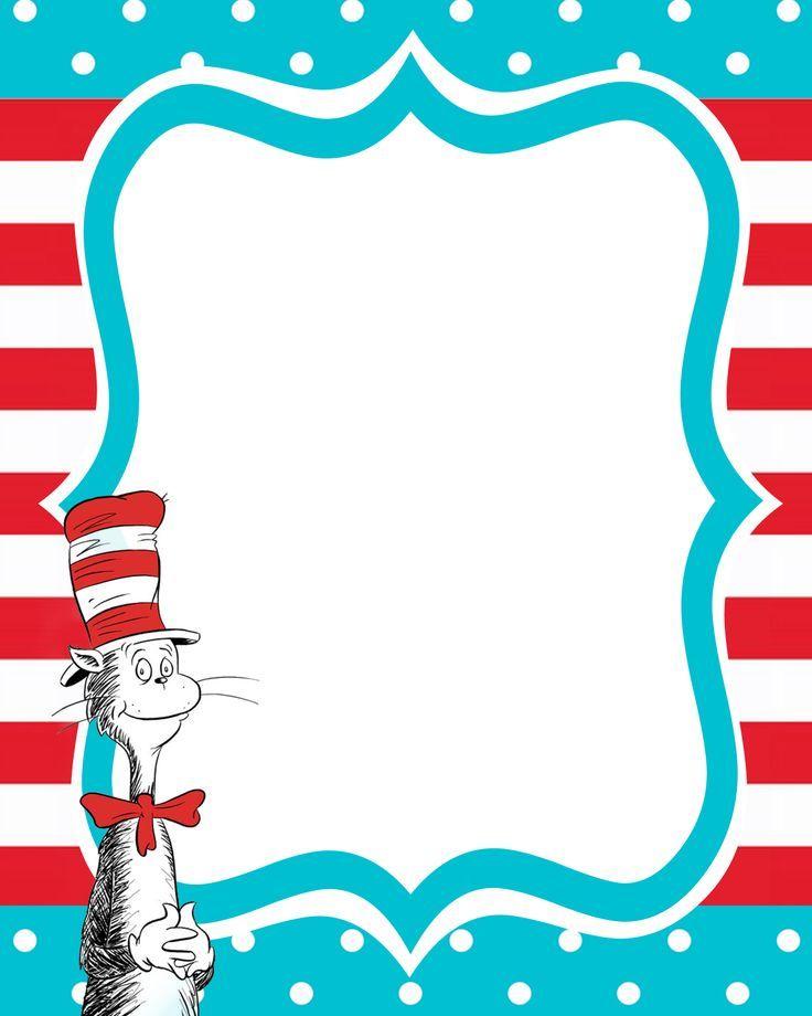 Dr Seuss Printables Dr Seuss Printable Invite Birthday Ideas u0026middot; Dr Seuss Clip Art Border Free Clipart Images