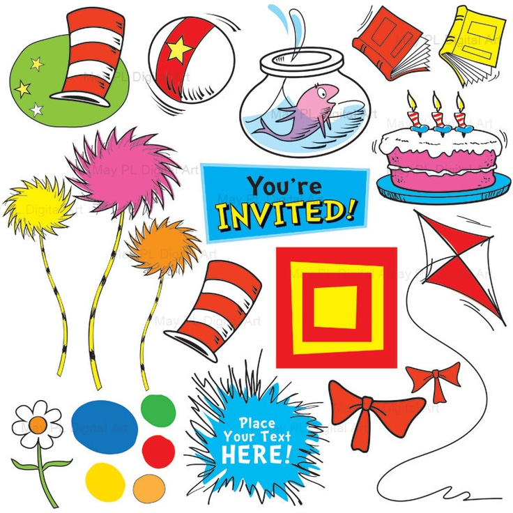 dr suess inspired clip art .